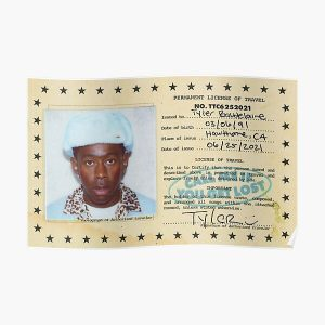 Permanent License Travel Of Tyler Poster Poster RB0309 product Offical Tyler The Creator Merch
